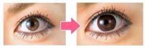 circle lens before and after